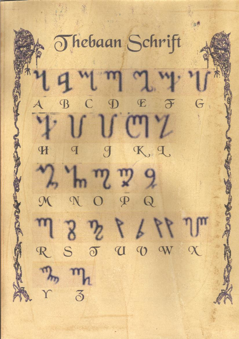 Witchcraft symbols and alphabet thebaans schrift buycottarizona