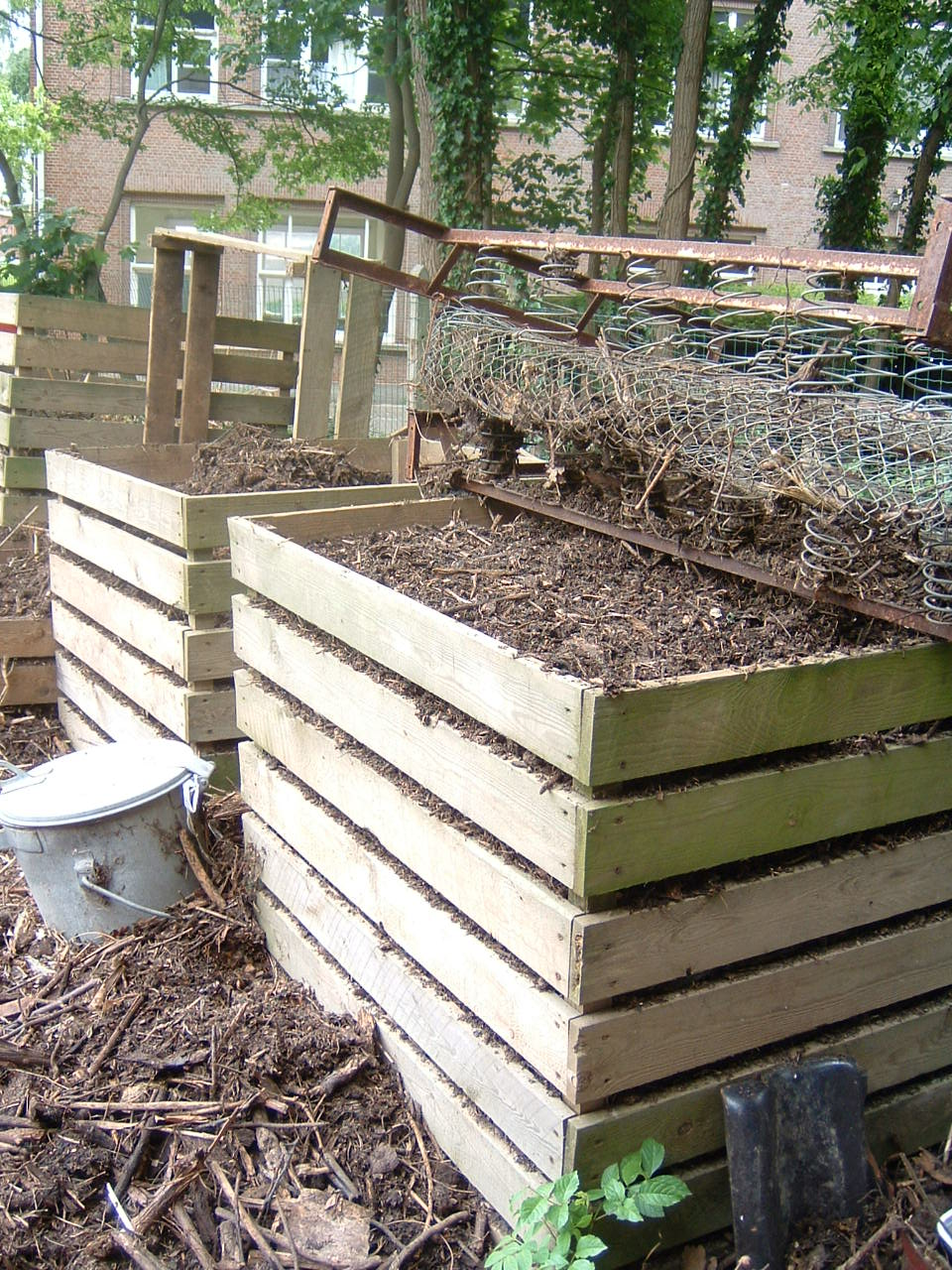 Hoe composteren for Compost tuin
