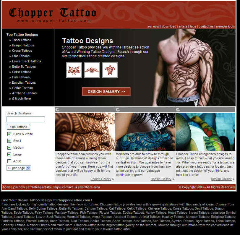 IN A Hurry? visit Chopper Tattoo the #1 Tattoo Gallery On The Web