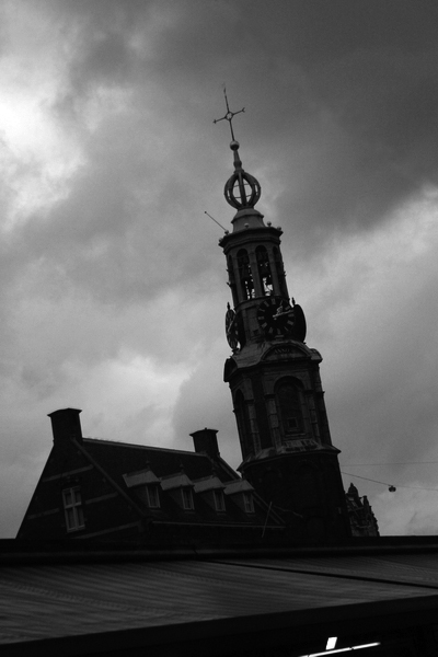 The leaning tower of Amsterdam