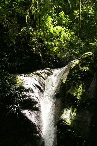 Ecuador - waterfall in Oriente