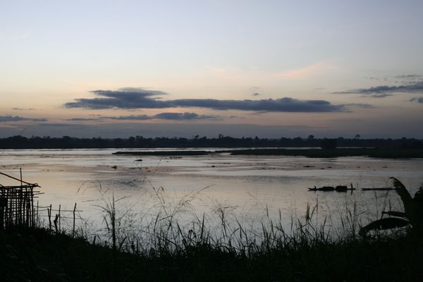 Evening view on the Congo river in Mbandaka (Dem. Republic of the Congo)