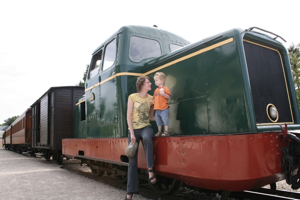 Historic train ride from St-Valéry sur Somme to Cayeux (Picardie, France)