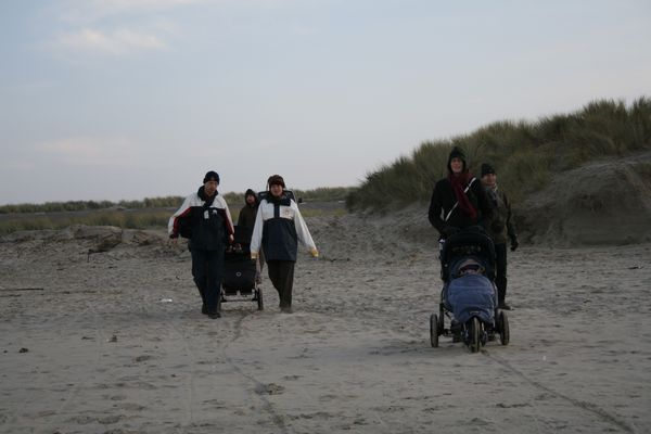 Dragging the buggies through the dunes
