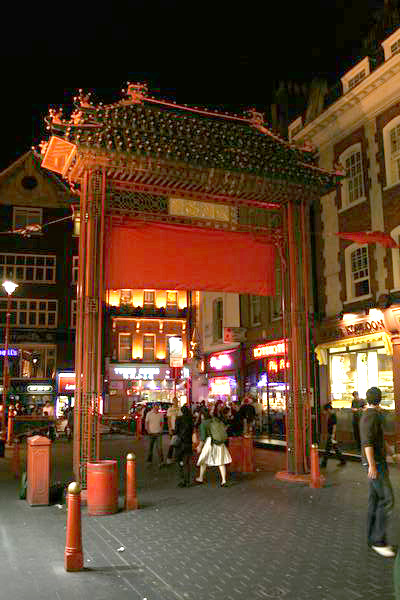 Entrance to China Town - London