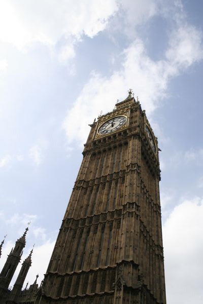 Houses of Parliament Clock Tower with Big Ben - London
