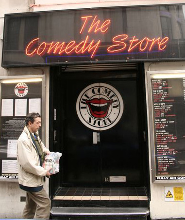 London - entrance to the Comedy Store