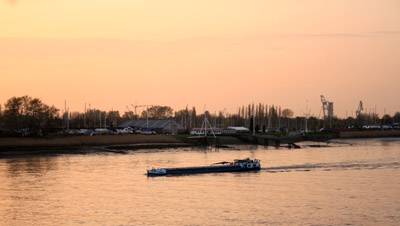 Boat on the river Schelde