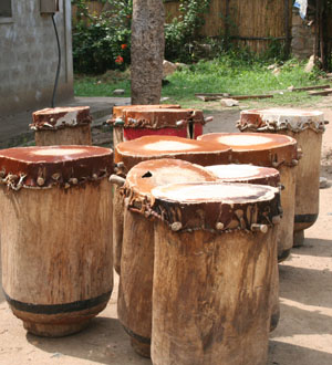 Traditional Burundese drums