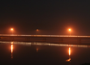 Bridge over the Niger river in Niamey (Niger)