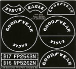 ATS 1/18 1/18 GOODYEAR TIRE PAINT TEMPLATE