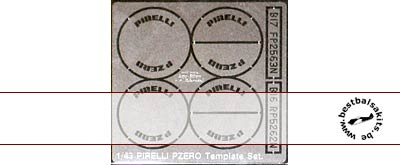 ATS 1/43 PIRELLI TIRE PAINT TEMPLATE