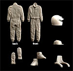 CRAFT 10 1/24 1/24 F1 FULL OUTFIT SHOES HELMET GLOVES SUIT