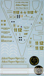 ARTEFICE 1/43 1/43 FULL SPONSOR DECAL LOTUS 97T TAMEO