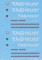 ARTEFICE 1/43 1/43 TAG HEUER FILL IN DECAL McLAREN F1-GTR