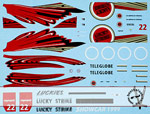 ARTEFICE 1/43 1/43 FULL SPONSOR DECAL BAR HONDA 001 SHOW CAR '99
