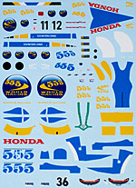 ARTEFICE 1/43 1/43 FULL SPONSOR DECAL HONDA RA106 GP CHINA 2