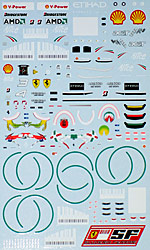 ARTEFICE 1/43 1/43 FULL SPONSOR DECAL FERRARI F60 DECAL f MATTEL