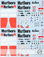 ARTEFICE 1/43 1/43 FULL SPONSOR McLAREN MP4/8 DECAL for PMA