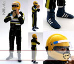 GF MODELS 1/12 SENNA SECURING HELMET MINICHAMPS LOTUS 97T