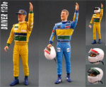 GF MODELS 1/20 SCHUMACHER F1 BENETTON DRIVER FIGURE CHEERING