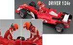 GF MODELS 1/24 2005 SCHUMACHER DRIVER FIGURE PUSHING OUT