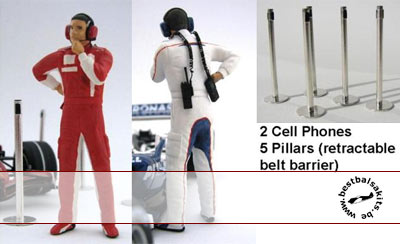 GF MODELS 1/24 PIT MECHANIC FIGURE THINKING + PILLARS