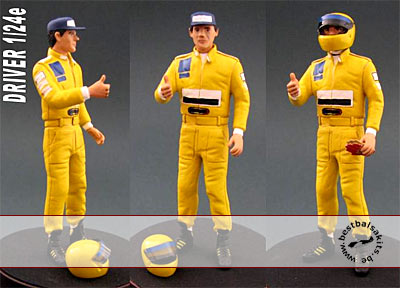 GF MODELS 1/24 SENNA F1 DRIVER FIGURE GIVING THUMBS UP