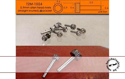 T2M NA 0.9mm ALLEN HEAD ALU 20pc