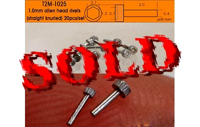 T2M NA 1.0mm ALLEN HEAD ALU 20pc