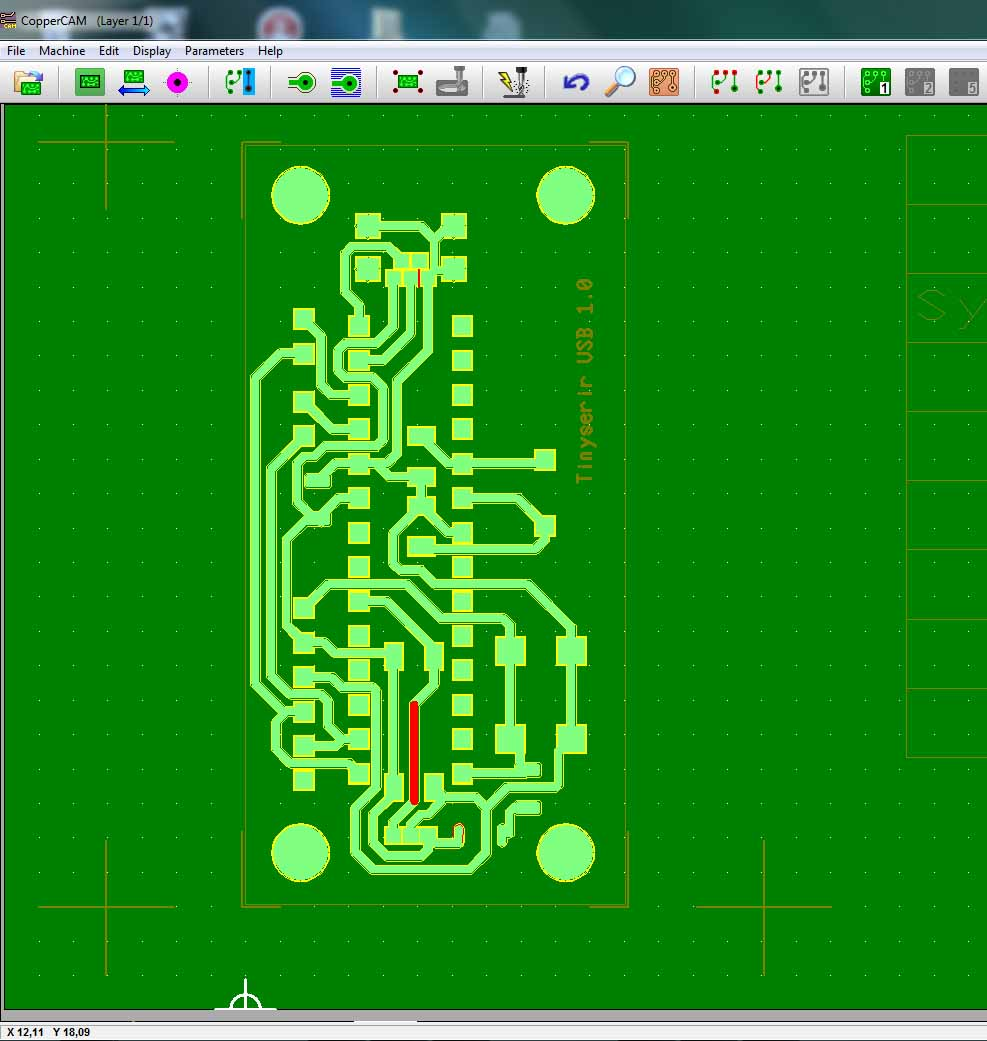 pcb with DIY cnc desktop milling router machine