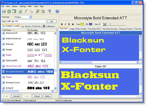 X-Fonter v4.6 Screenshot