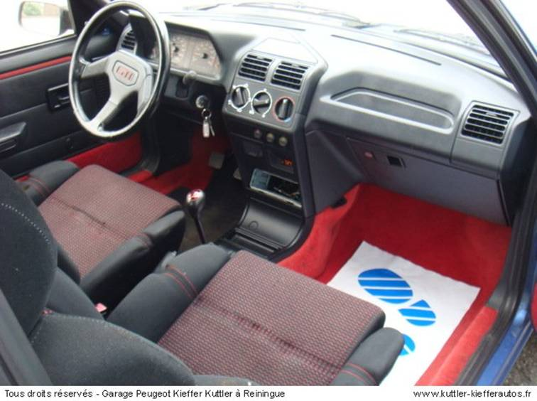 Renault 5 gt turbo for Interieur 205 gti