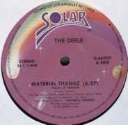 THE DEELE - Material Thangz - 12 inch 45 rpm