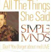 Simple Minds - All The Things She Said Single