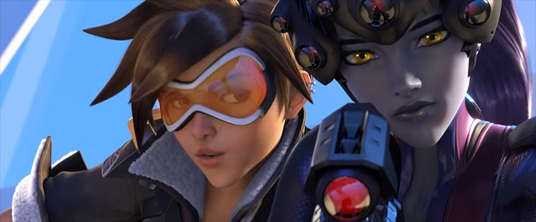 Tracer and Widowmaker have a moment