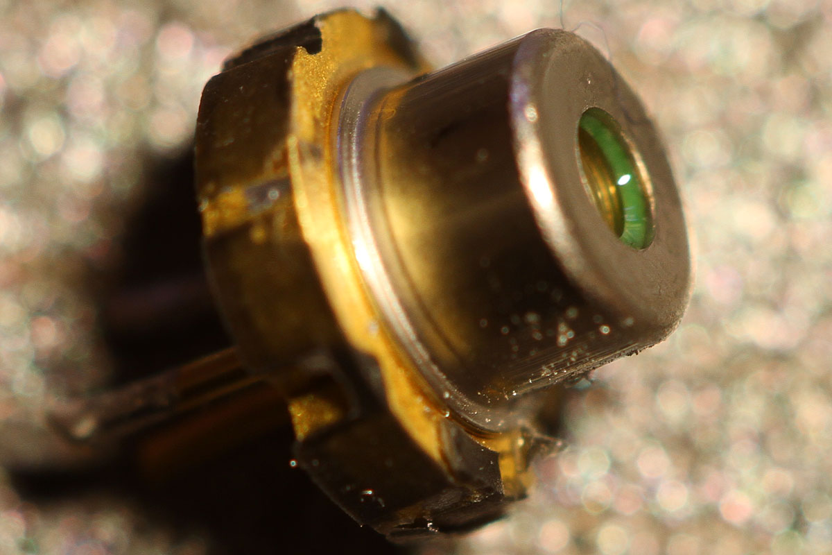 Large Macro Photo Of Soc Loc And 445nm Diode Laser