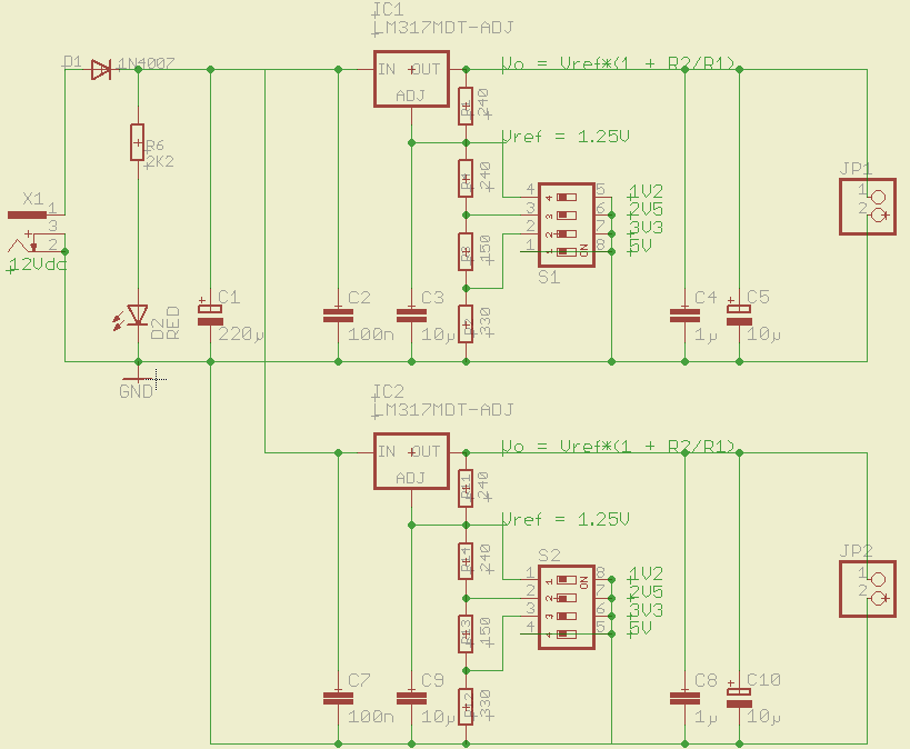 ON4NVS Projects: Breadboard supply