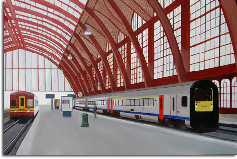 Antwerpen Centraal Station. Philippe Verbert - Paintings
