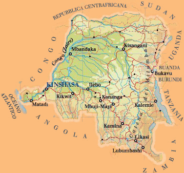 Fondation Maisha - Map of Congo