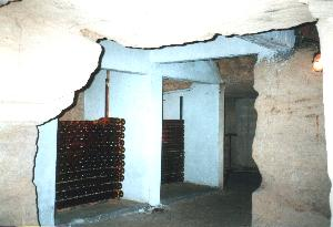 Real caves, full of wine bottles...