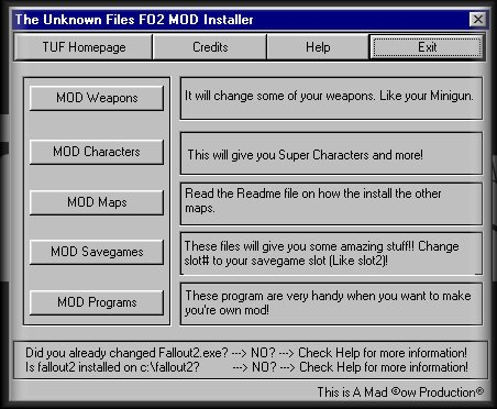 TUF's MOD Section
